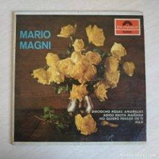 Discos de vinilo: MARIO MAGNI – DIECIOCHO ROSAS AMARILLAS + 3 - RARO EP SELLO POLYDOR DEL AÑO 1964. Lote 246114930