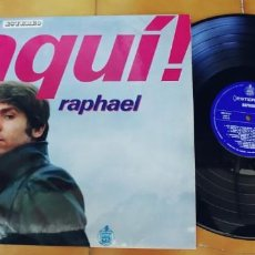 Discos de vinilo: RAPHAEL-LP AQUI-BUEN ESTADO. Lote 246122850