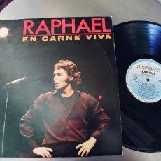 Discos de vinilo: RAPHAEL-LP EN CARNE VIVA-ENCARTE LETRAS. Lote 246123450