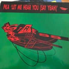 Discos de vinilo: PKA LET ME HEAR YOU MAXI SINGLE. Lote 246130410