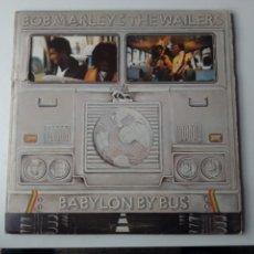 Discos de vinilo: BOB MARLEY LP DOBLE BABYLON BUS + ENCARTES CARPETA TROQUELADA RARO. Lote 246132455