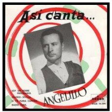Discos de vinilo: XX VINILO, ANGELILLO, SOY UN POBRE PRESIDIARIO, RADIO CUBA, MADRID-SEVILLA Y SI YO FUERA CAPITAN.. Lote 246138450