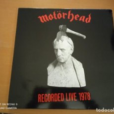 Discos de vinilo: MOTORHEAD - RECORDED LIVE 1978 LP VINILO ROJO CON INSERTO. Lote 246145780