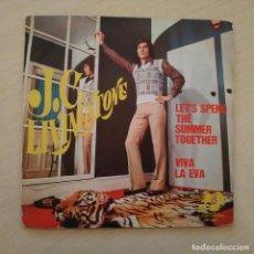 Discos de vinilo: J. C. LIVINGSTONE - LET'S SPEND THE SUMMER TOGETHER / VIVA LA EVA - SINGLE DE 1974 SPAIN BUEN ESTADO. Lote 246153675