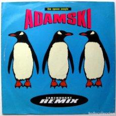 Discos de vinilo: ADAMSKI - THE SPACE JUNGLE (EARTHQUAKE REMIX) - MAXI MCA RECORDS 1990 UK BPY. Lote 246156140