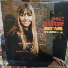 Discos de vinilo: ANNIE PHILIPPE–SENSATIONNEL! • YÉ-YÉ BONBONS 1965-1968 . LP VINILO COLOR ROJO. ACE RECORDS.. Lote 246164390