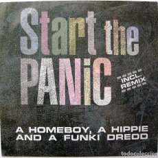Discos de vinilo: A HOMEBOY, A HIPPIE AND A FUNKI DREDD - START THE PANIC - MAXI ZYX RECORDS 1992 GERMANY BPY. Lote 246164590
