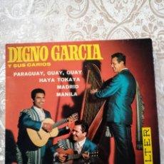 Discos de vinilo: DISCO EP VINILO DIGNO GARCÍA Y SUS CARIOS. Lote 246167445