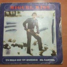 Discos de vinilo: 22-00079 -MIGUEL RIOS - YO SOLO SOY UN HOMBRE EL CARTEL. Lote 246171010