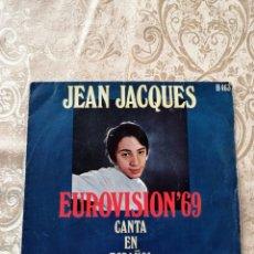 Discos de vinilo: DISCO EP VINILO JEAN JACQUES, EUROVISIÓN 69. Lote 246171425