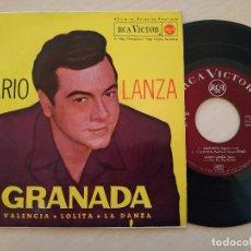 Discos de vinilo: MARIO LANZA - GRANADA / VALENCIA / LOLITA / LA DANZA - RCA VICTOR - 1962 EXCELENTE ESTADO. Lote 246175705