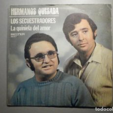 Discos de vinilo: HERMANOS QUESADA - LOS SECUESTRADORES - LA QUINIELA DEL AMOR - BELTER 1975. Lote 246175995