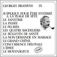 Discos de vinilo: GEORGE BRASSENS SUPPLIQUE POUR UN ETRE ENTERRE A LA VINILO. Lote 246194215