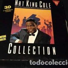 Disques de vinyle: DISCO DOBLE LP-NAT KING COLE-COLLECTION- AÑO 1990. Lote 246203760