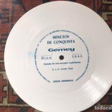 Discos de vinilo: GEMEY. THE BEATLES. FLEXI OBSEQUIO . MINUTOS DE CONQUISTA. SÍNTESIS DE UNA EMISIÓN RADIOFÓNICA .1968. Lote 246207120