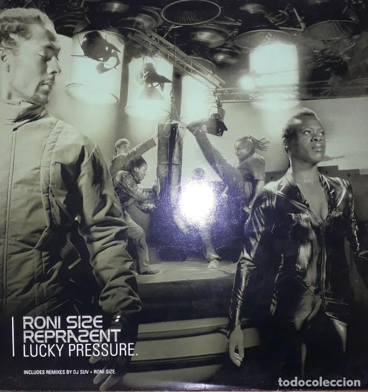 "SINGLE 12"" 45 RPM - RONNIE SIZE & REPRAZENT ""LUCKY PRESSURE"" REMIXES (2001 DRUM N' BASS) (Música - Discos - Singles Vinilo - Electrónica, Avantgarde y Experimental)"