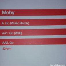 "Discos de vinilo: E.P. 12"" 33 RPM - MOBY ""GO""(VITALIC REMIX)//""GO""(2006), ""GO""(ORIGINAL). Lote 246215620"