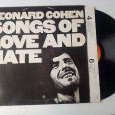 Discos de vinilo: LEONARD COHEN LP SONGS OF LOVE AND HATE + ENCARTE 1983 VG+. Lote 246220975
