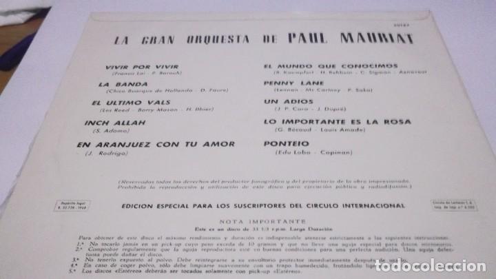 Discos de vinilo: LA GRAN ORQUESTA DE PAUL MAURIAT .LP PERGOLA .1968 - PENNY LANE(THE BEATLES) Y 9 CANCIONES MAS - Foto 2 - 246222450
