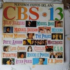 Disques de vinyle: CBS 13- NUESTROS ÉXITOS DEL AÑO- 1983. Lote 246223070