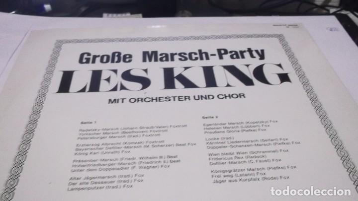 Discos de vinilo: MARSH-PARTY - LES KING .MIT ORCHESTER UND CHOR . LP MADE IN GERMANY 1983- MUSICA BEAT-BEAT FOX-FOX - Foto 2 - 246230405