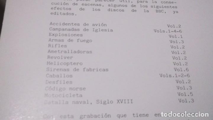 Discos de vinilo: EFECTOS DE SONIDO.DOBLE LP,1981.DIAL DISCOS-EFECTOS GUERRA,ORGANILLOS,JUGUETES.CAMPANAS,PAJAROS,FORD - Foto 2 - 246232890
