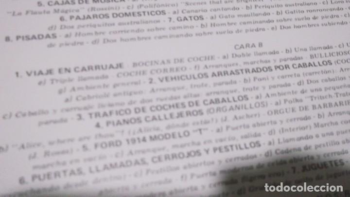 Discos de vinilo: EFECTOS DE SONIDO.DOBLE LP,1981.DIAL DISCOS-EFECTOS GUERRA,ORGANILLOS,JUGUETES.CAMPANAS,PAJAROS,FORD - Foto 6 - 246232890