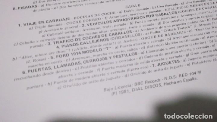 Discos de vinilo: EFECTOS DE SONIDO.DOBLE LP,1981.DIAL DISCOS-EFECTOS GUERRA,ORGANILLOS,JUGUETES.CAMPANAS,PAJAROS,FORD - Foto 7 - 246232890