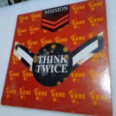 Discos de vinilo: MISSION - THINK TWICE. Lote 246240740