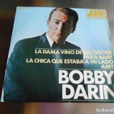 Discos de vinilo: BOBBY DARIN, EP, LA DAMA VINO DE BALTIMORE + 3 ,AÑO 1967. Lote 246249645