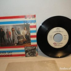 Discos de vinilo: BON JOVI NEVER SAY GOODBYE SINGLE PROMOCIONAL ITALIANO PARA DJ´S,MUY BUEN ESTADO. Lote 246263375