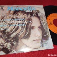 Discos de vinilo: MANOELLA TORRES EL ULTIMO VERANO/LLORANDO POR DENTRO +2 EP 1972 CBS MEXICO NACIO PARA CANTAR. Lote 246263610