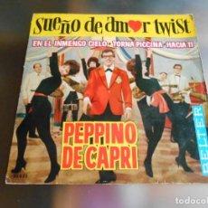 Discos de vinilo: PEPPINO DI CAPRI Y SUS ROCKERS, EP, SUEÑO DE AMOR TWIST (SOGNO D´AMORE TWIST) + 3 ,AÑO 1962. Lote 246267240