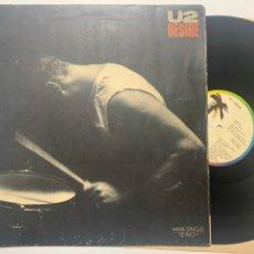 Discos de vinilo: MAXI GATEFOLD U2 DESIRE EDICIÓN ESPAÑOLA DE 1988. Lote 246274100