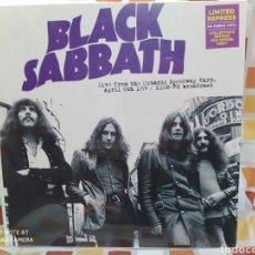 Discos de vinilo: BLACK SABBATH -LIVE FROM THE ONTARIO SPEEDWAY PARK, APRIL 6TH 1974. LP VINILO COLOR PRECINTADO. Lote 246293700