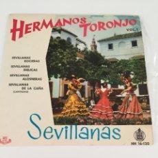 Discos de vinilo: DISCO HERMANOS TORONJO. Lote 246301105