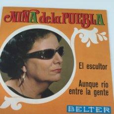 Discos de vinilo: DISCO NIÑA DE LA PUEBLA. Lote 246301280