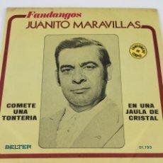Discos de vinilo: DISCO JUANITO MARAVILLAS. Lote 246303395