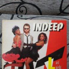 Discos de vinilo: INDEEP - LAST NIGHT. Lote 246311125