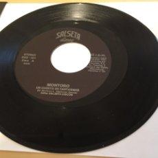"""Discos de vinilo: MONTORO - UN CUENTO DE FANTASMAS - RADIO PROMO SINGLE 7"""" - ERROR DE FÁBRICA - ETIQUETADO DESPLAZADO. Lote 246315025"""
