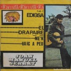 Discos de vinilo: JUAN MANUEL SERRAT//EL DRAPAIRE//SINGLE//1963//EDIGSA. Lote 246316725