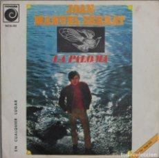 Discos de vinilo: JUAN MANUEL SERRAT//LA PALOMA//1969//NOVOLA. Lote 246317655