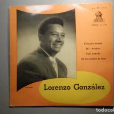 Discos de vinilo: LORENZO GONZÁLEZ Y SU ORQUESTA - CHIQUITA BONITA - MIL NOCHES, PIEL CANELA - ODEON. Lote 246323115