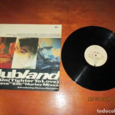 "Discos de vinilo: CLUBLAND - HOLD ON (TIGHTER TO LOVE)THE STEVE ""SILK"" HURLEY MIXES - MAXI - EUR - METRONONE - PLS 253. Lote 246323380"
