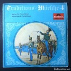 Discos de vinilo: MUSIKKORPS DER 11. PANZER-GRENADIER-DIVISION - TRADITIONS-MÄRSCHE 4 - EP ALEMAN 1965 - POLYDOR. Lote 246334885