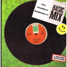 Discos de vinilo: FAX YOURSELF - SUNSHINE - MAXI SINGLE 1989 - ED. ESPAÑA. Lote 246335835