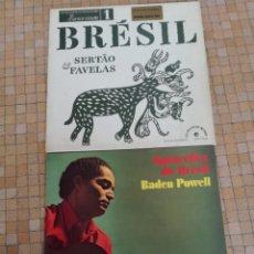 Discos de vinilo: LOTE 2 VINILILOS MUSICA BRASILEÑA BRESIL SETAO FAVELAS - AQUARELLES DU BRASIL ABDEN POWEL. Lote 246336520