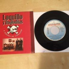 """Discos de vinilo: LOQUILLO Y LOS TROGLODITAS - A GOLPES DE CORAZÓN - RADIO PROMO SINGLE 7"""" - 1992. Lote 246336565"""