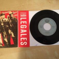 "Discos de vinilo: ILEGALES - EUROPA HA MUERTO - RADIO PROMO SINGLE 7"" - 1991. Lote 246338250"