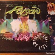 Discos de vinilo: POISON - SHALLOW THIS - LIVE **** RARO LP ESPAÑOL 1991 GRAN ESTADO. Lote 246339995